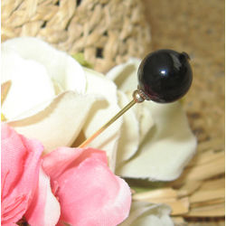 Black Onyx Downton Abbey Hat Pin