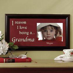 Personalized Reason I Love Photo Frame