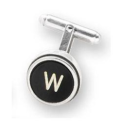 Silver Type Key Letter Cufflink