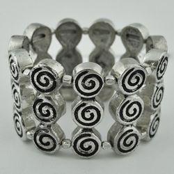 German Silver Chunky Gypsy Bracelet