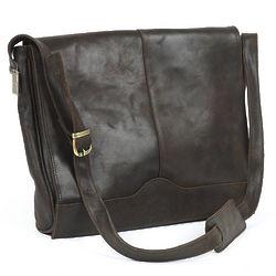 Saddle Cowhide Leather Messenger Satchel