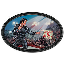 The King of My Heart Elvis Personalized and Framed Plate