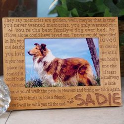 Til the End Personalized Pet Memorial Wood Picture Frame