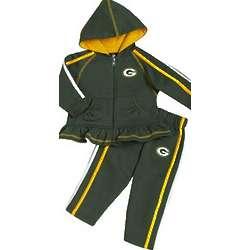 Preschooler's Green Bay Packers Ruffled Hoodie and Pants