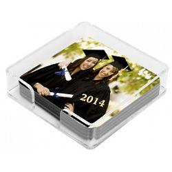Personalized Square Lucite Photo Coasters
