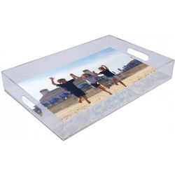 Custom Photo Lucite Tray with Text