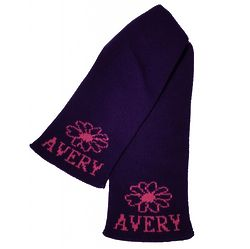 Personalized Scarf with Name and Flower