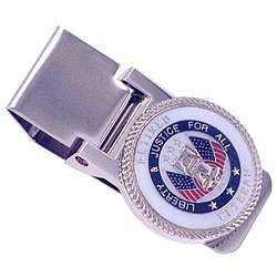 Engraved Veteran - Military Service Hinged Money Clip