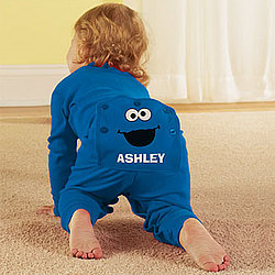 Sesame Street Personalized Cookie Monster Infant Long Johns