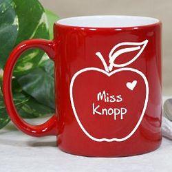 Apple of My Heart Teacher Coffee Mug