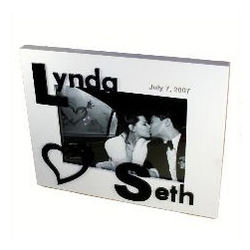 3D Monogram Couple's Photo Frame