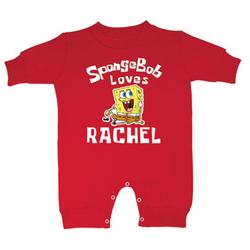 Personalized SpongeBob Loves Fleece Romper