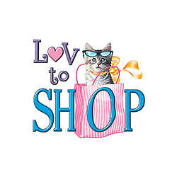 Love To Shop Kitten T-Shirt