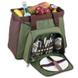 Toluca Insulated Cooler with Deluxe Picnic Service for 2