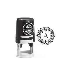 Medallion Single Letter Monogram Stamps