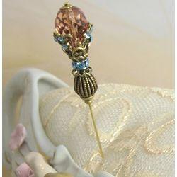 Blue Rosaline Stunner Hat Pin