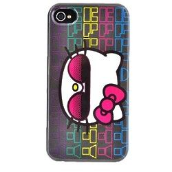 Hipster Hello Kitty Hard Back Cover Case for iPhone
