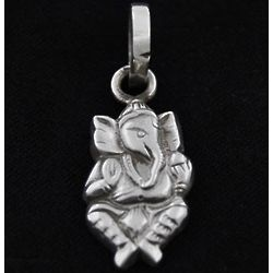 Sterling Silver Ganesha Figure Pendant