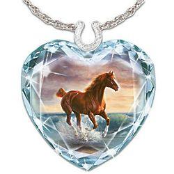 Crystal Horse Art Swarovski Crystal Pendant