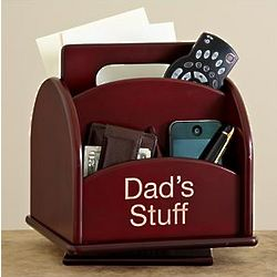 Personalized Revolving Wood Organizer