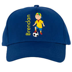 Caillou Soccer Season Blue Baseball Cap