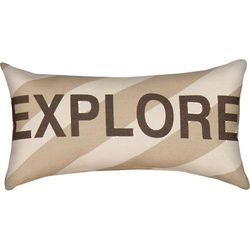 Words To Hold On To Explore Outdoor Pillow