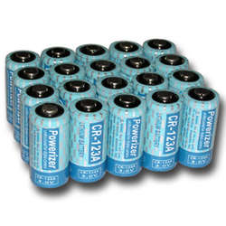 20 Pcs CR123A Lithium Photo Batteries