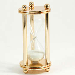 """Gold Plated 6"""" 5 Minute Hourglass"""