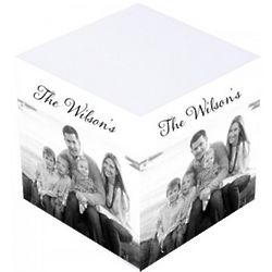 Personalized Black & White Photo Sticky Note Cube