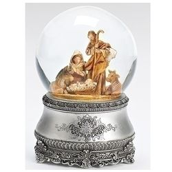 Fontanini Nativity Glitterdome with Silver Base