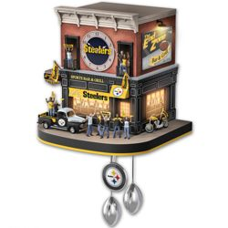 Pittsburgh Steelers Wall Clock with Lights, Sound, and Motion