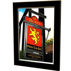 Personalized Golden Lion Pub Sign
