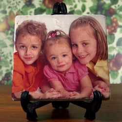 Picture Perfect Personalized Tumbled Stone Plaque