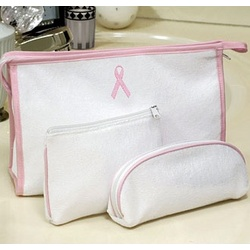 Breast Cancer Awareness Terry Cloth Cosmetic Bags