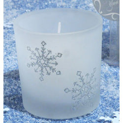Winter Wonderland Frosted Glass Votive Candle Favor