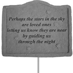 Perhaps the Stars in the Sky Garden Plaque