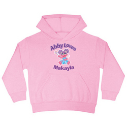 Personalized Abby Loves Hoodie