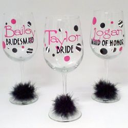 Personalized Bridal Party Wine Glass