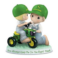 John Deere Father and Son Precious Moments Figurine