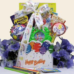 Kids Happy Birthday Wishes Gift Basket