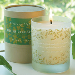 William Shakespeare Candle
