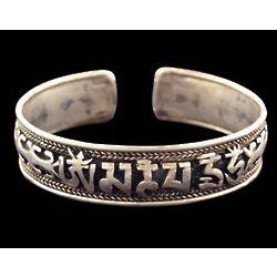 Ohm Mantra Cuff Bracelet