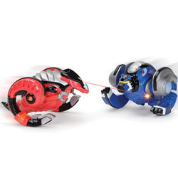 Battling Virtual and Terrestrial Remote Controlled Robot Toys