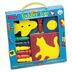 Toddler Tote Puzzle and Pegs Playset