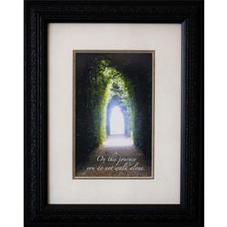 On This Journey Framed Inspirational Art Print