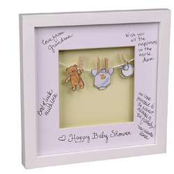 Baby Announcement Signature Mat Baby's Laundry Frame