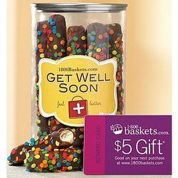 Get Well Dipped Mini Pretzel Rods in a Can
