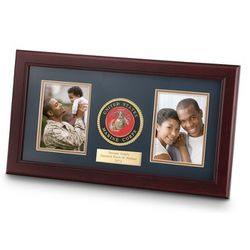 United States Marine Corps Dual Picture Frame