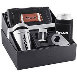 Sports Fan Cigar and Barware Gift Set