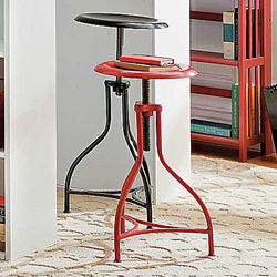 Adjustable Vintage Metal Stool